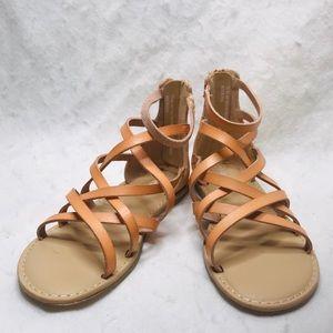 Cat & Jack Size 13 Tan Lilith ZIP Up Sandals